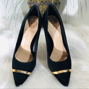 Vince Camuto Black Suede Pump;not worn; size 6 1/2